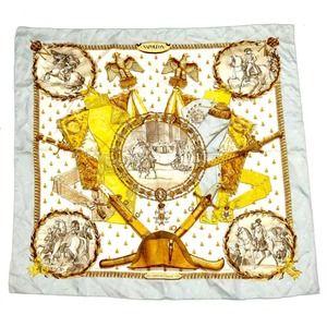 Authentic Vintage Hermes Silk Twill Scarf Napoleon